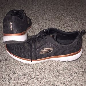 Skechers Black and Copper Sneakers